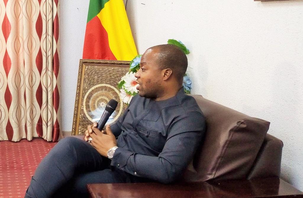 le maire de la ville de Porto-Novo, Charlemagne Yankoty