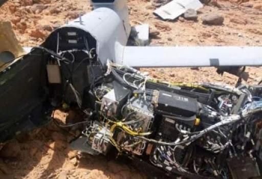 Drone écrasé