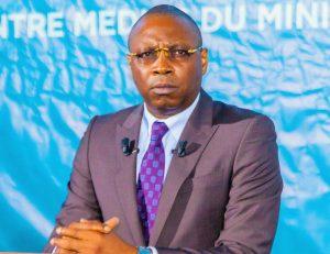 le ministre de la communication, porte-parole du gouvernement, Alain Orounla,